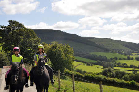 Riders on Glyndwrs Way