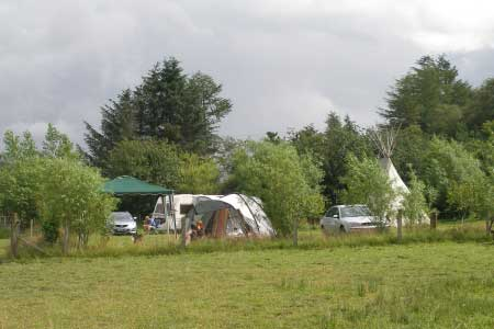 Mid Wales Camping at Woodhouse Farm is totally secluded