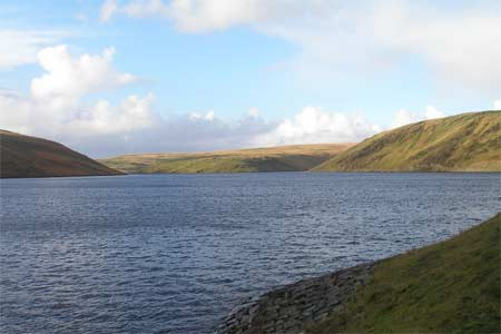 Wild and remote Claerwen reservoir