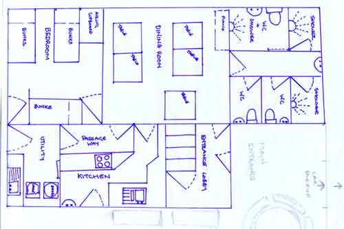Downstairs plan.
