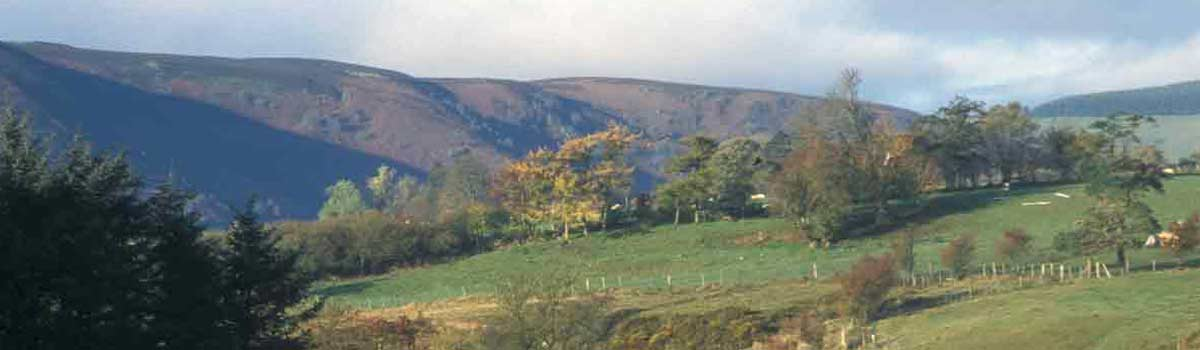 View of the surrounding hills from Woodhouse.