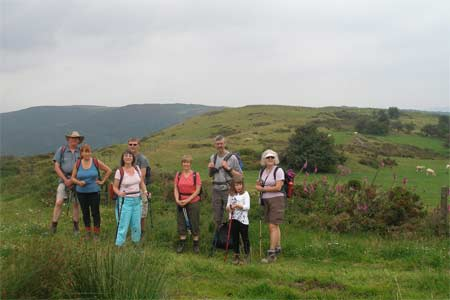 Walking group on Tynshimney